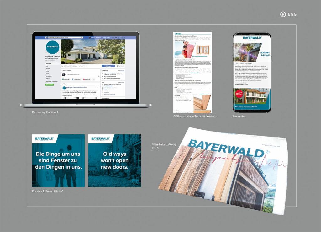 Übersicht der Content-Marketing-Maßnahmen für Bayerwald
