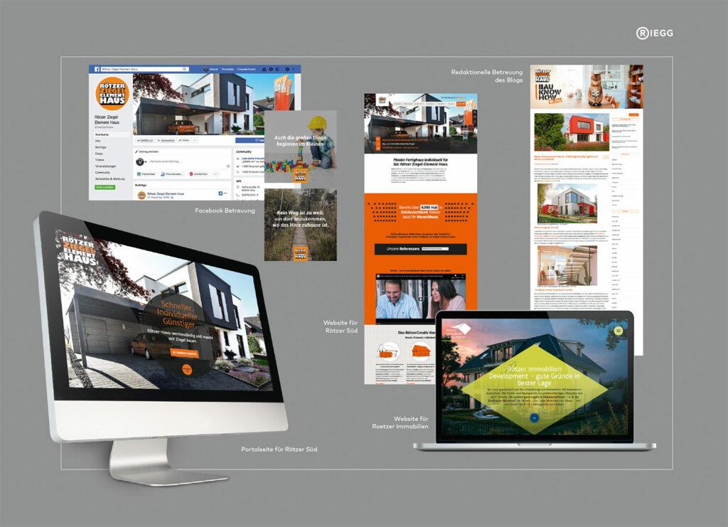 Online-Maßnahmen für Rötzer Ziegel Element Haus