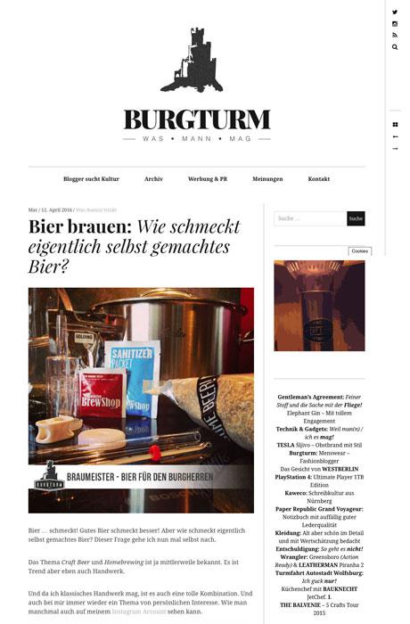 Blogger-Kooperation Heldbergs mit Burgturm