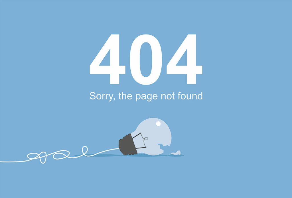 404-Fehlerseite als Fehlerquelle des Page Experience Updates