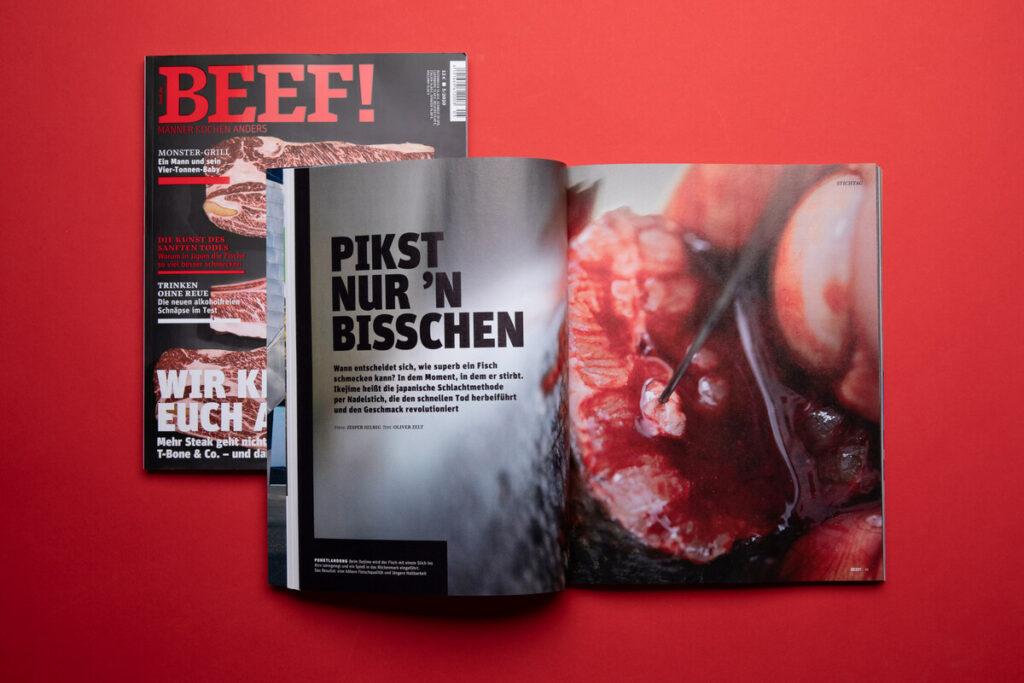 Fotografenmeister Jesper Hilbig – Feature in der Zeitschrift BEEF – Ikejime